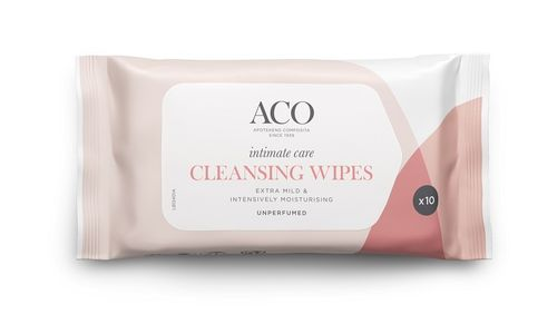 Aco Intimate Care Cleansing Wipes 10 kpl
