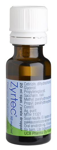ZYRTEC 10 mg/ml allergialääketipat 20 ml