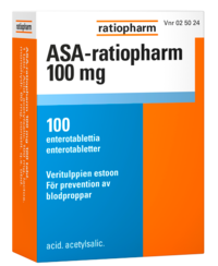 ASA-ratiopharm 100 mg 100 enterotablettia