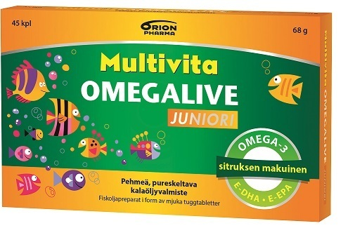 Multivita Omegalive Junior 45 kpl *