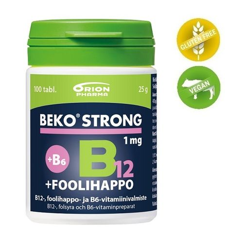 Beko Strong 1 mg B12+Foolihappo+B6 *
