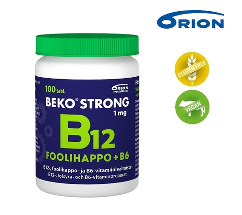 Beko Strong B12+Foolihappo+B6 1 mg *