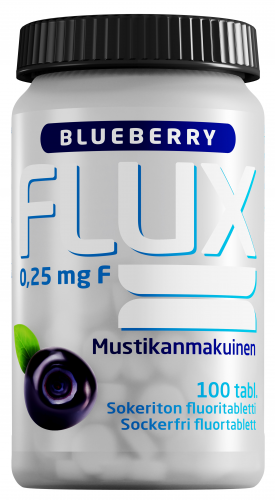Flux Blueberry 0,25 mg fluoritabletti 100 tabl.