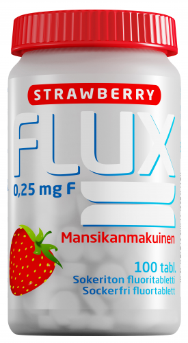 Flux Strawberry 0,25 mg fluoritabletti