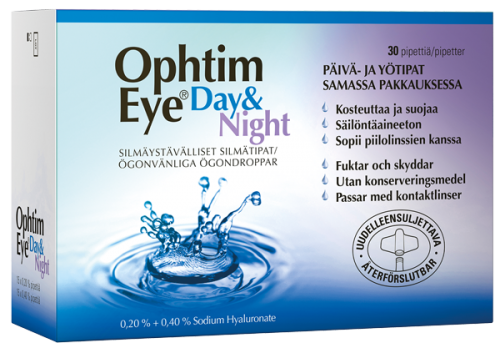Ophtim Eye Day & Night silmätipat 30 pipettiä