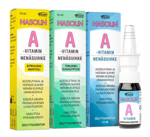 Nasolin A-vitamin nenäsuihke 10 ml *