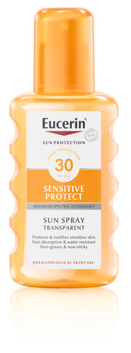 Eucerin Sensitive Protect Sun Spray Transparent SPF 30, 200 ml
