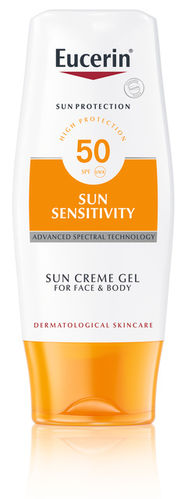 Eucerin Sun Sensitivity Cream Gel Face & Body SPF 50, 150 ml