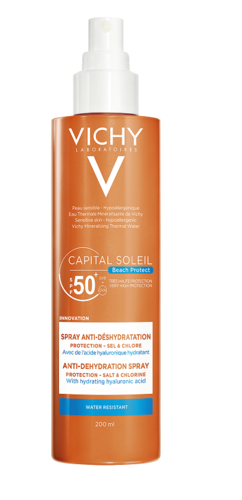 Vichy Capital Soleil Anti-Dehydration aurinkosuojasuihke SPF50+ 200 ml