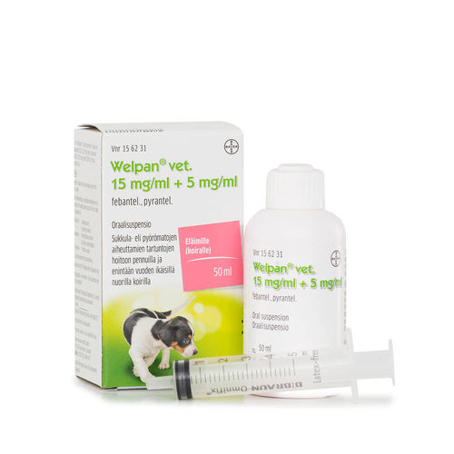 WELPAN VET 15 mg/5 mg/ml matolääke oraalisuspensio 50 ml