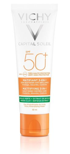 Vichy Capital Soleil 3-in-1 Mattifying aurinkosuojavoide SPF50+, 50 ml